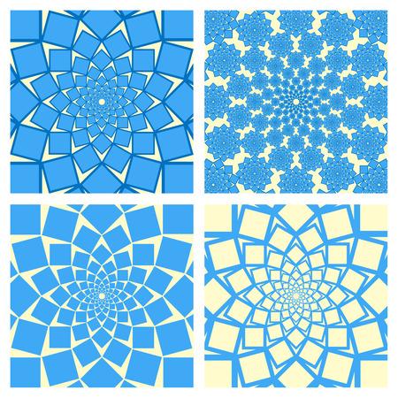 curl whirlpool: Geometric Background Set. Oriental Style. Vector. Illustration