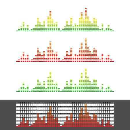 waveform: Waveform Shape. Soundwave. Audio Wave Graph Set. Vector. Illustration