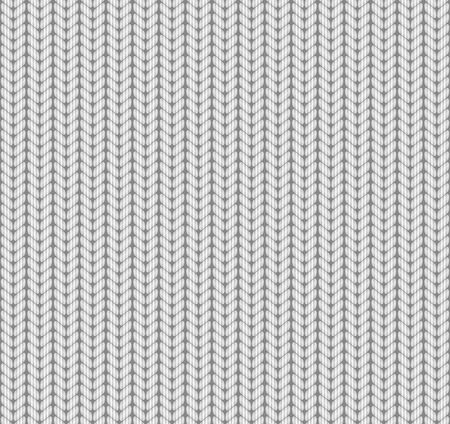Knitted Seamless Pattern. White. Vector.