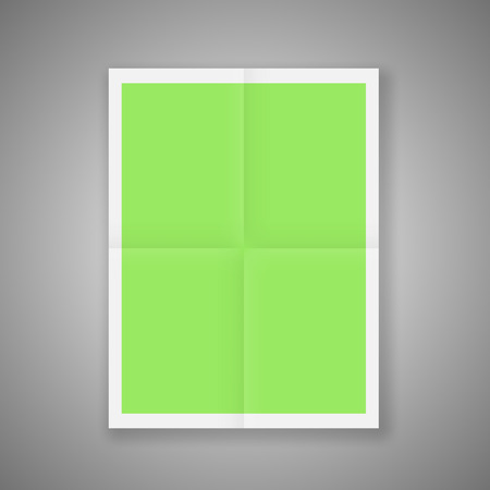 times up: Folded Poster Template. Mockup Ready For Your Design. Vector.