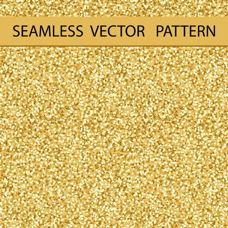 Naadloos Glitter Pattern. Golden Gloss. Achtergrond, textuur. Vector.