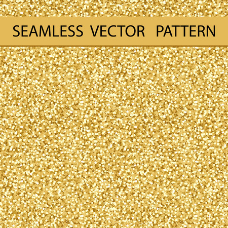 Seamless Glitter Pattern. Golden Gloss. Background, Texture. Vector. Ilustrace