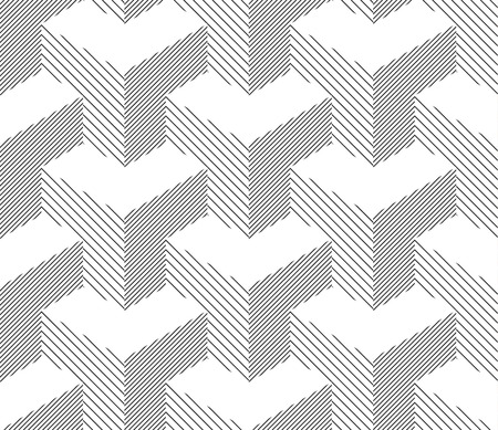geometric lines: Seamless Geometric Pattern. Halftone Background. Black And White Lines. Vector.