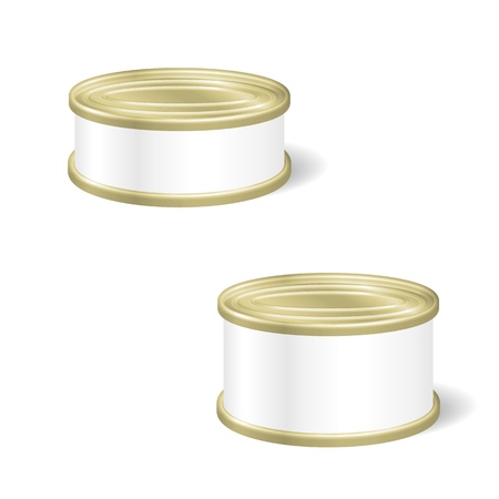 tincan: Realistic Blank Tins For Canned Food, Preserve, Conserve. Mock Up To Advertise Goods. Packaging Template.