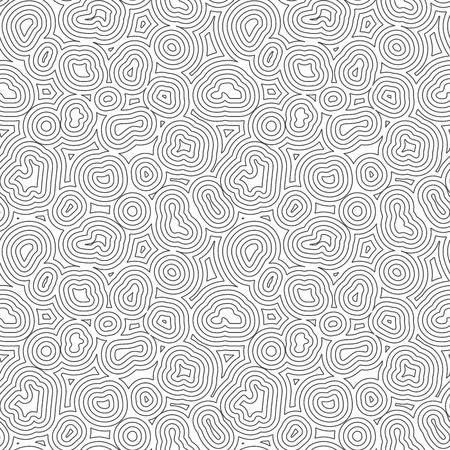 Seamless Topographic Pattern. Organic Or Geographic Lines. Vector.