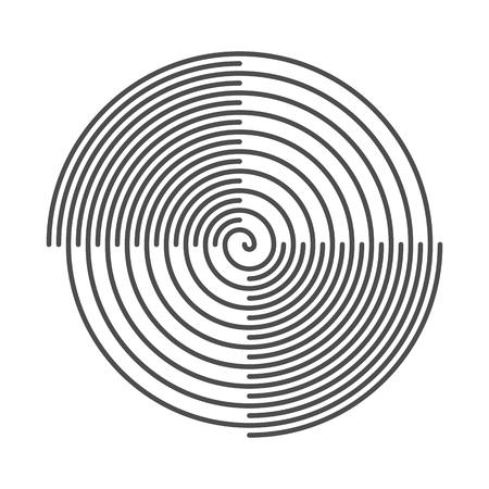 Arrière-plan Résumé spirale. Grooves en vinyle. Vector Illustration.