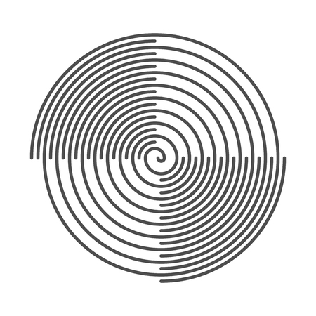 grooves: Spiral Abstract Background. Vinyl Grooves. Vector Illustration.