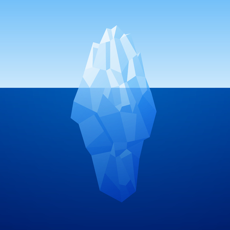 low poly: Iceberg Background In Low Poly Style. Vector.