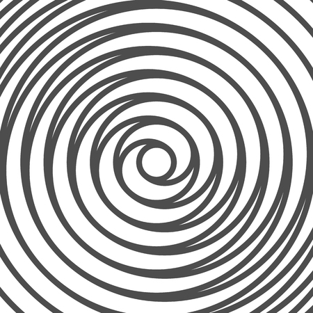 twirl: Double Spiral Background. Whirlpool. Optical Illusion. Vector. Illustration