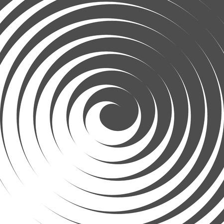 Abstracte Spiraalvormige Achtergrond. Retro stijl. Zwart en wit. Vector. Vector Illustratie