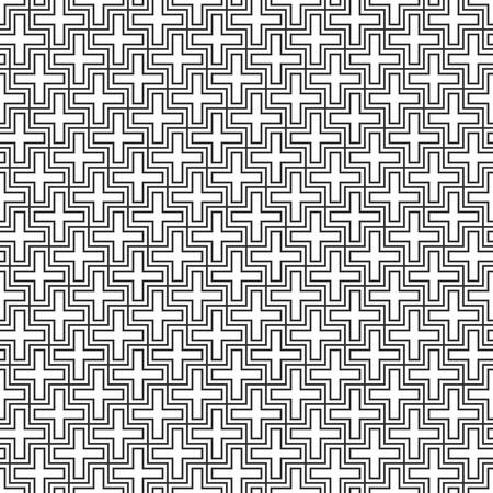 Seamless Geometric Pattern. Regular Tiled Ornament. Vector