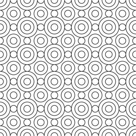 black and white: Seamless Geometric Pattern. Regular Tiled Ornament. Vector