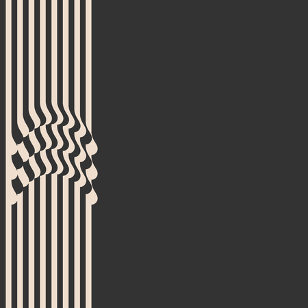 style template: Waved Stripes. Vintage Style Background. Cover Template. Vector