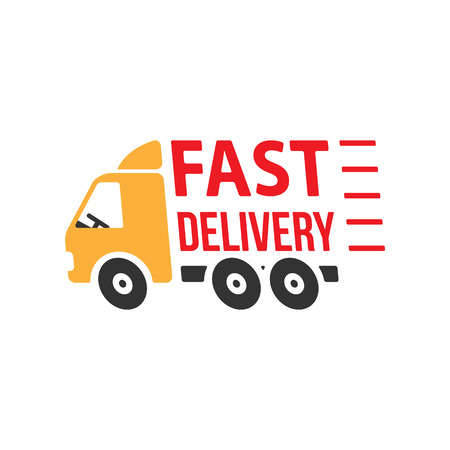 post: Fast Delivery Icon. Flat Style. Vector