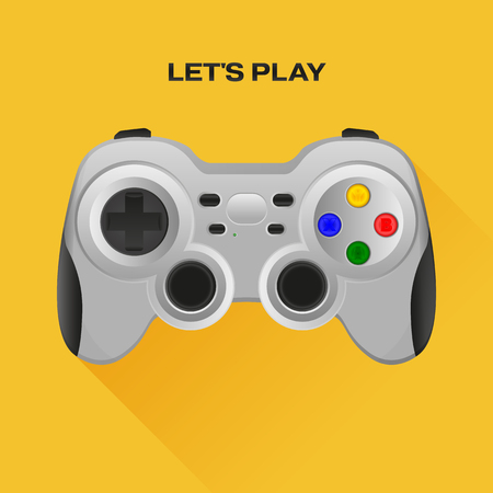 move controller: Wireless grey gamepad with long shadow.