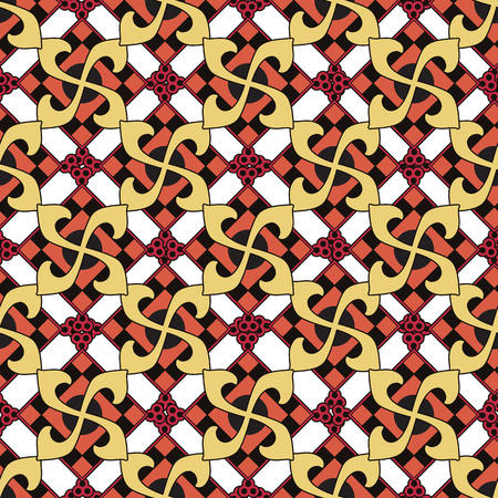 swastika: Swastika seamless pattern. Vector illustration.