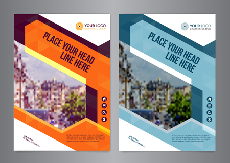 a5: Business brochure flyer design layout template vector in A5 size. Leaflet cover presentation geometric shapes, abstract Modern Backgrounds.