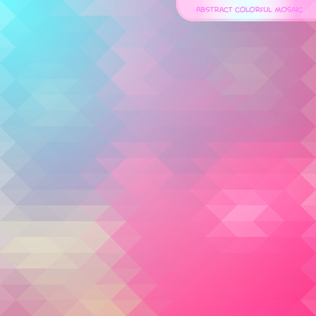 Abstract pattern of geometric shapes. Colorful mosaic background with place for your text. Vector illustration.