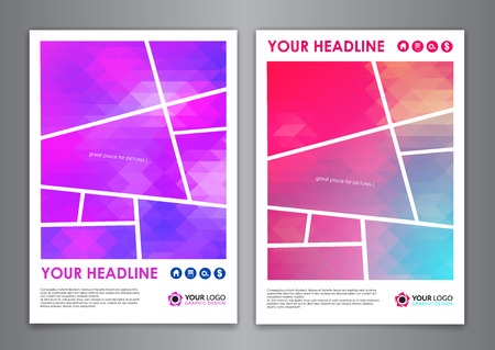 a5: A5 business print template. Brochure or annual report cover, identity illustration, abstract Modern Backgrounds. Illustration