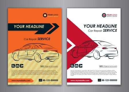 A5, A4 Eingestellt Servicegeschäft Layout-Vorlagen Auto Reparatur ...