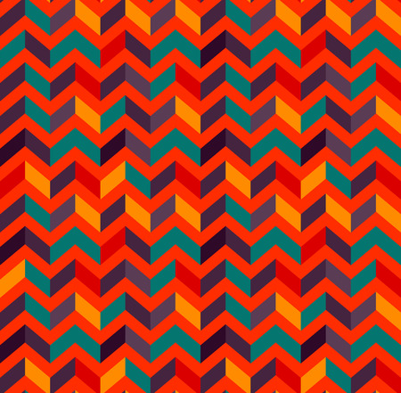 Multicolor zigzag seamless pattern. Modern Colour trends. Geometric Vector illustration.