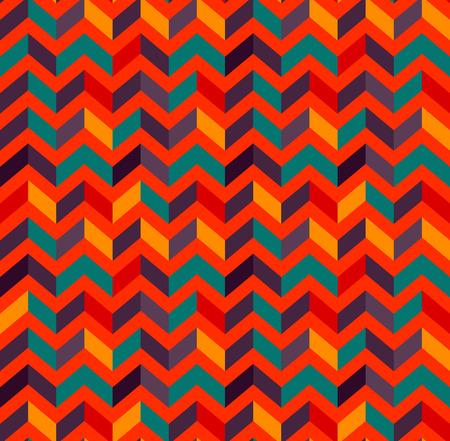 Multicolor zigzag seamless pattern. Modern Colour trends. Geometric Vector illustration.