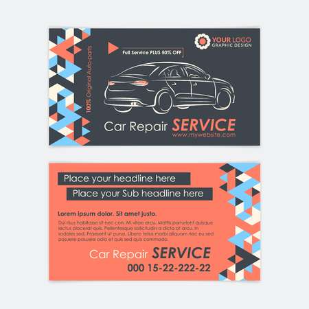 Design for auto repair symbol for business royalty free cliparts 69774478 automotive service business card template car diagnostics and transport repair create your own business cards mockup vector illustration reheart Image collections