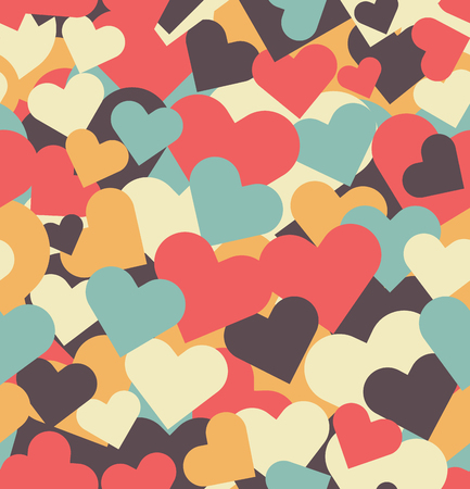 Valentine's Day seamless pattern with hearts. Vector illustration.