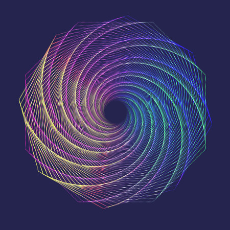 Abstract colorful swirl background. Vector illustration.