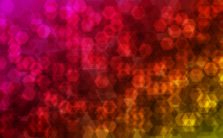 Multicolor trendy geometric background, Hexagons abstract pattern. Vector illustration.