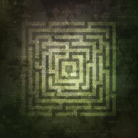 Technology Background Design with square maze. Business concept. Vector illustration. Illusztráció