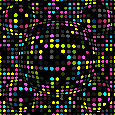 Abstract dotted seamless pattern. Texture with spheres, billowy dots for your designs. Vector illustration.