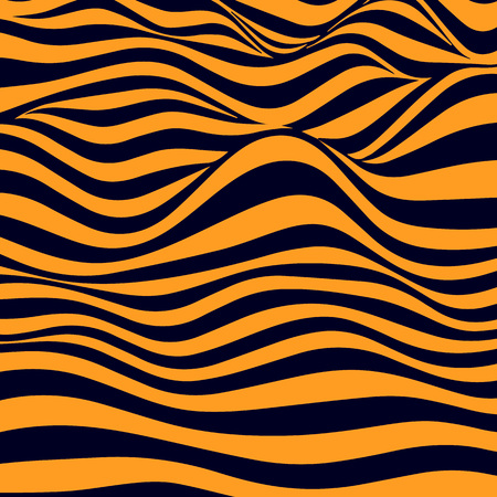 Abstract striped wavy background. Color curved lines.