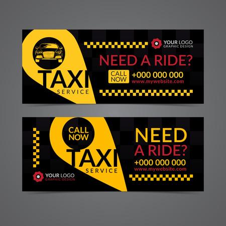 Conjunto De Banner De Negocios De Servicio De Taxi, Cartel, Volante ...