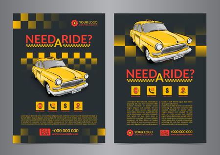 Plantillas De Diseño De Diseño De Servicio De Recogida De Taxi ...