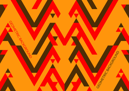 Trendy geometric background, triangle pattern field. Vector illustration.