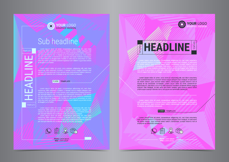Multipurpose Flyer Layout with Geometric background triangles. Leaflet cover presentation, Modern Backgrounds. Vector illustration.