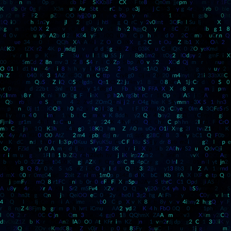 Abstract digital binary code background. Vector illustration