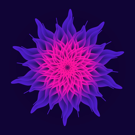 Mandala Flower, Sacred Geometry. Abstract psychedelic vector background. Illusztráció