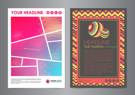 Set of Business Flyer Layout with curved lines and abstract Modern Backgrounds. Vector illustration.