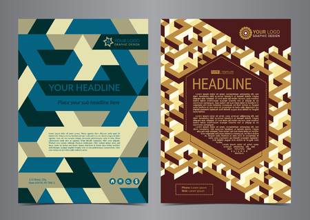 Multipurpose Flyer Layout with geometric background. Business design layout template, Modern Backgrounds. Vector illustration.