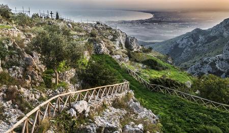 A view of Pulsano Wall - Gargano - Apulia, an holy place in Monte SantAngelo - Gargano - Apulia - Italy Stock Photo