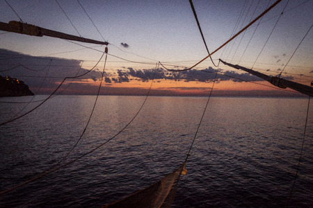 apulia: A view from trabucco at sunset - Apulia - Gargano