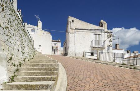 A road in Monte Saint Angelo (Apulia - Gargano)