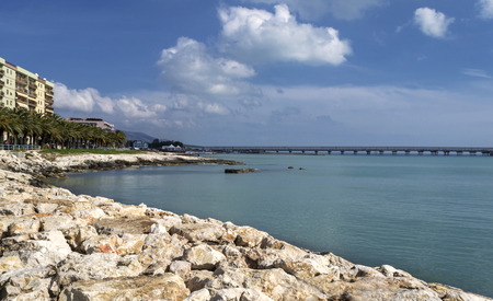 Manfredonia sea view - Gargano - Apulia Stock Photo