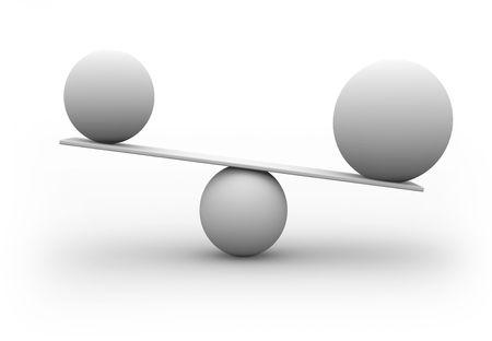 balanza: Escalas 3d concepto aislado en blanco