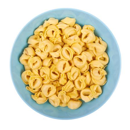 Ravioli gerecht op een witte achtergrond Stockfoto