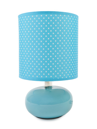 Blue lamp on a white background. photo
