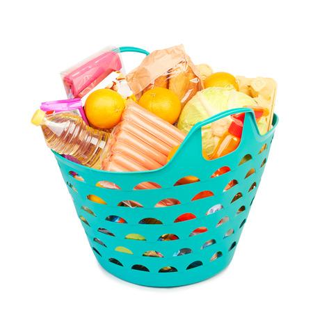 selfcare: canasta de alimentos, subsidios a los alimentos aisladas sobre fondo blanco