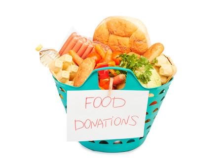 autocuidado: canasta de alimentos, subsidios a los alimentos aisladas sobre fondo blanco